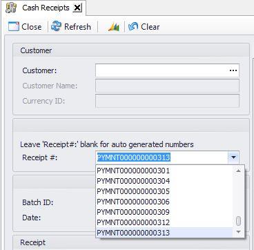 Cash Receipts - Support | SalesPad