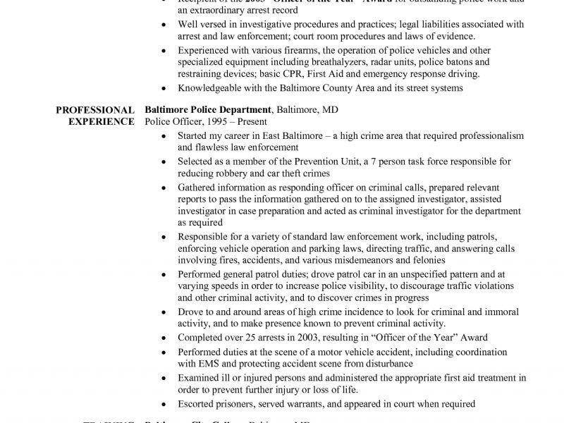 Download Police Officer Resume Example   haadyaooverbayresort.com