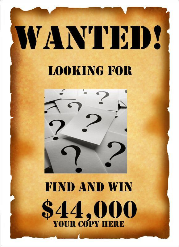 Wanted Poster Template - 19+ Download Documents in PSD, PDF , Doc