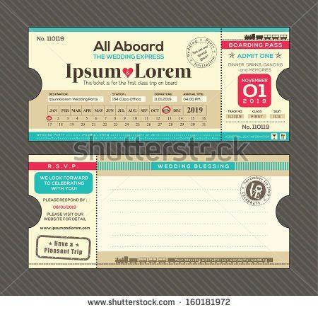 Modern Design Boarding Pass Ticket Event Stock Vector 214343338 ...