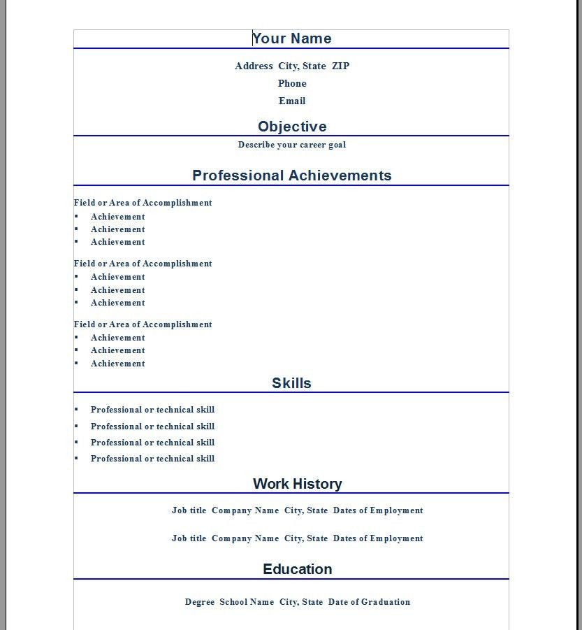 Resume Template Category Page 1 - urlspark.com