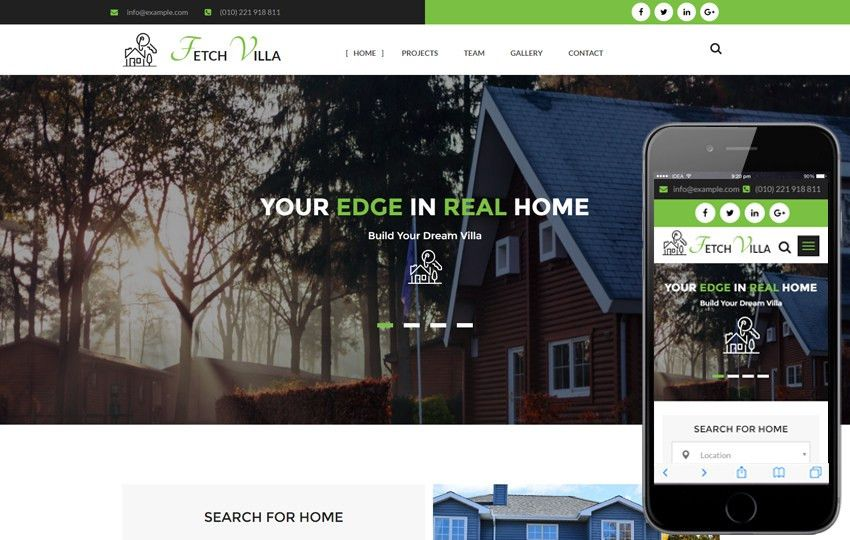 Real-estates Builders Mobile website Templates