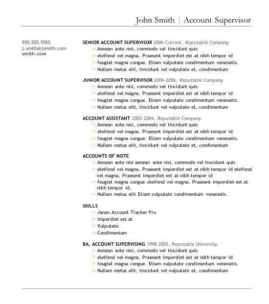Chic Design Good Resume Formats 2 7 Free Resume Templates - Resume ...