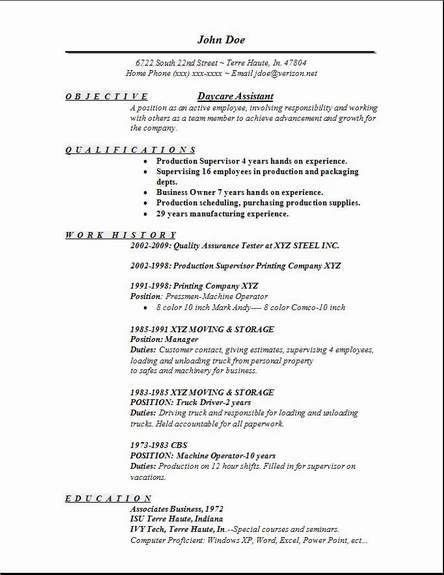 daycare resume objective resume sample resume objective for child