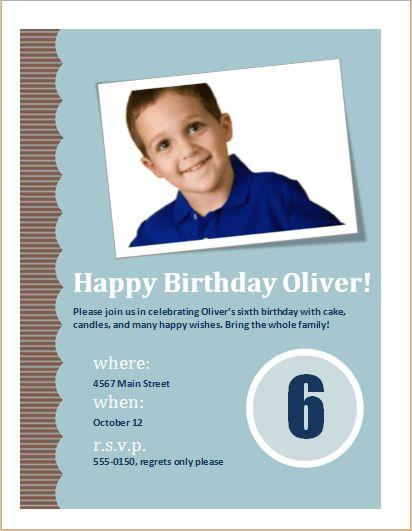 Birthday Invitation Flyer Editable MS Word Template | Formal Word ...