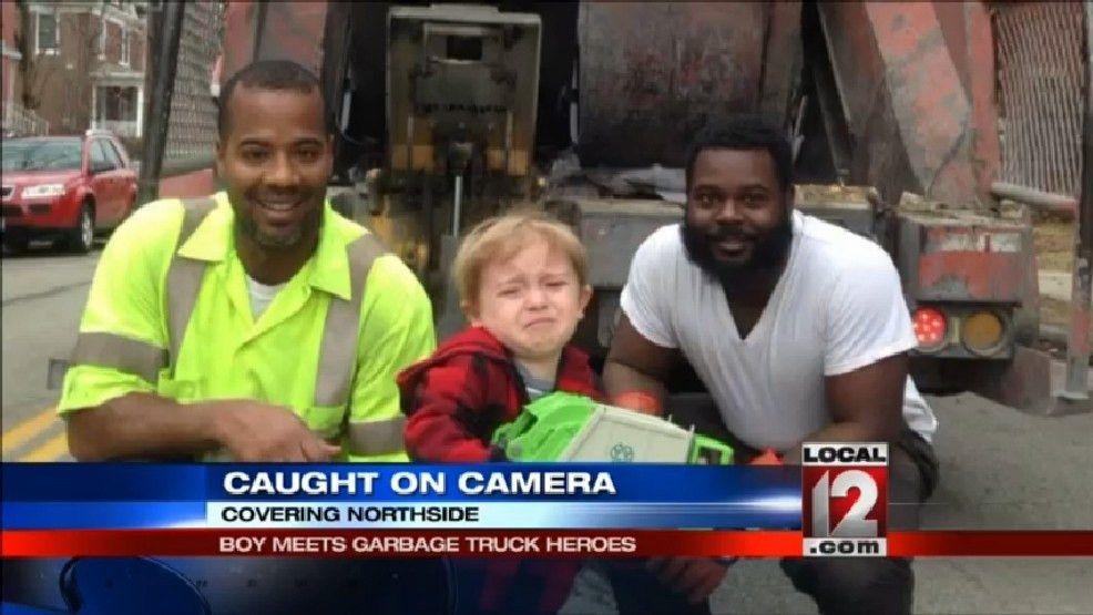 Boy meets garbage truck heroes | WKRC