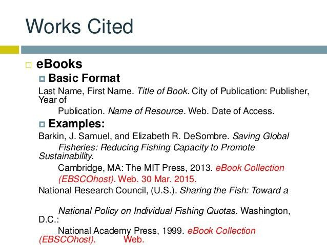 Research & Citations - EBSCO eBooks - Libraries at Houston ...