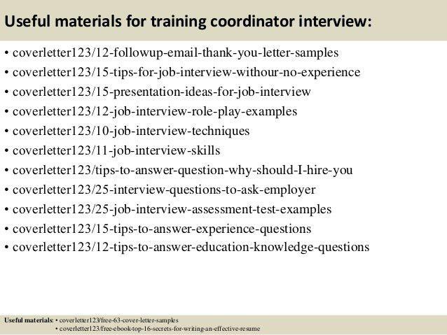Assessment Coordinator Cover Letter