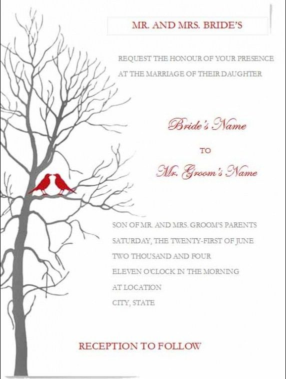 Wedding Invitation Templates Word. Wedding Invitations. Wedding ...