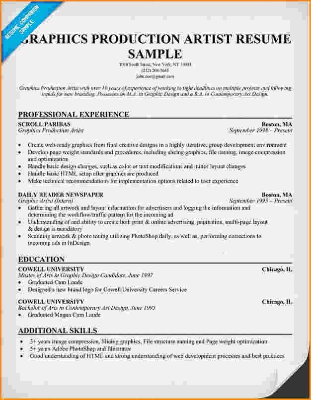 6+ graphic artist resume sample   Invoice Template Download