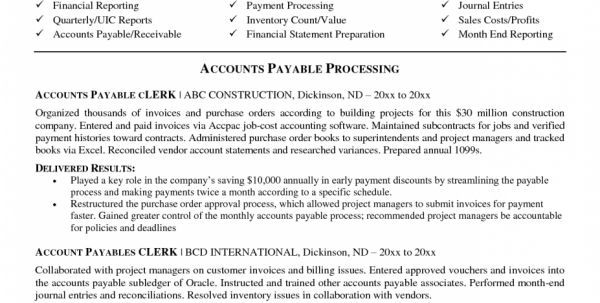 cost accountant resumes