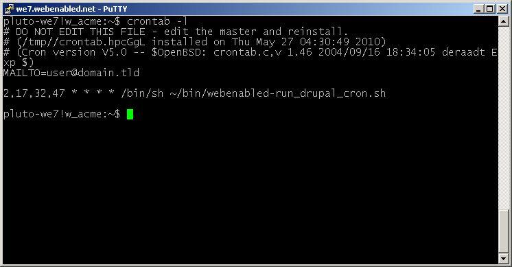 WebEnabled (beta) | Setting and configuring Cron jobs