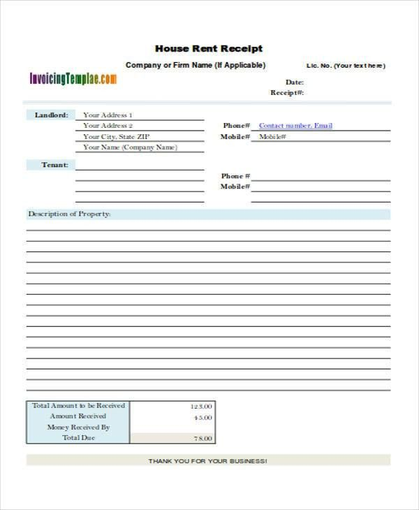 39+ Free Receipt Forms