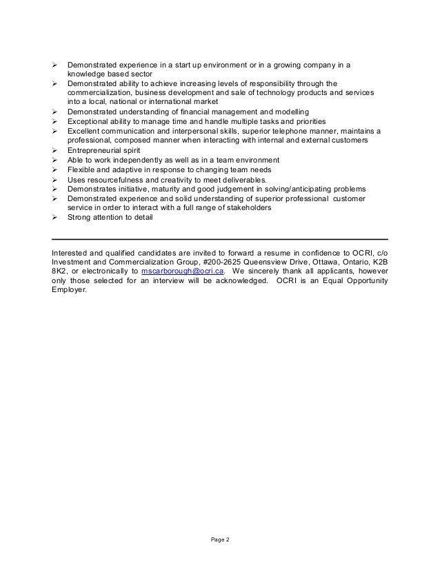 Icg Business Advisor Job Description