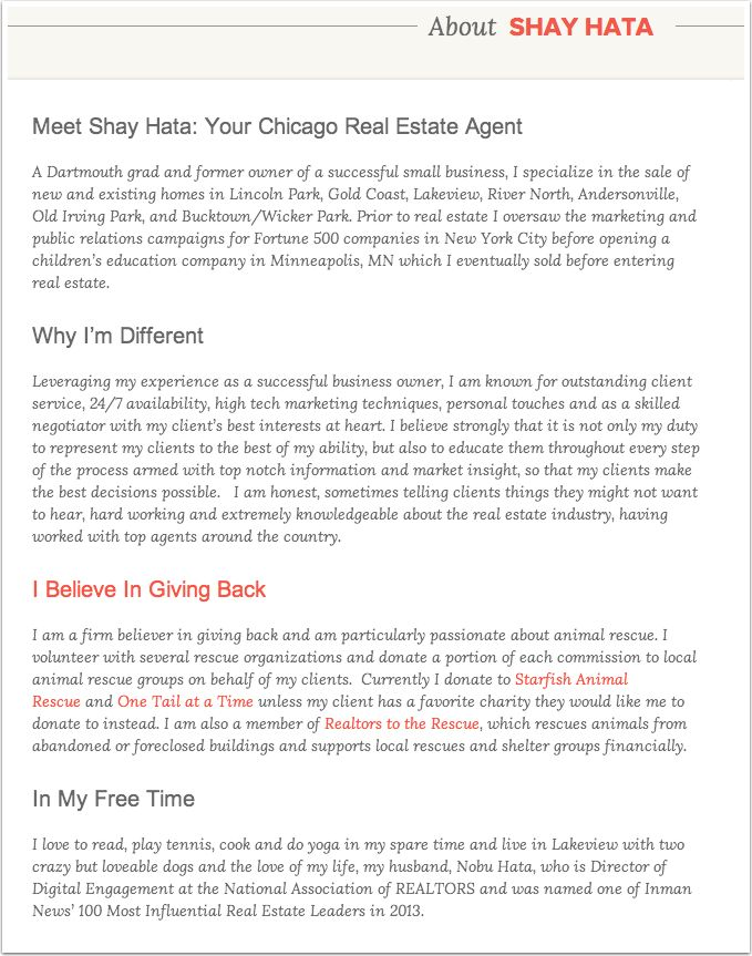 How to Write an Agent Bio & 10 Knockout Examples | Placester