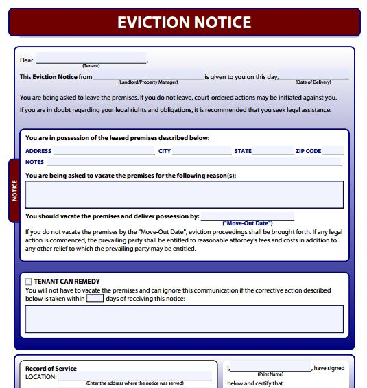 Best Photos of Printable Eviction Form - Eviction Notice Template ...