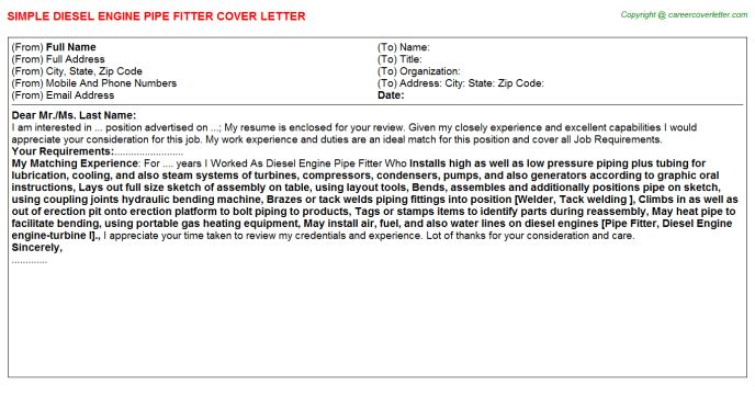 Pipe Fitter Helper Cover Letters