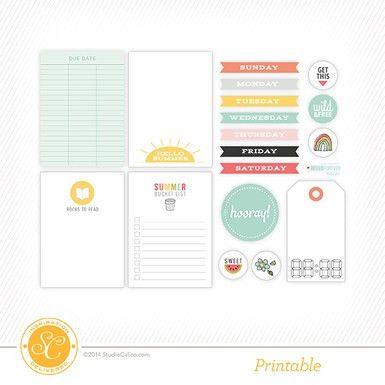 Homespun Good Luck Card Printable by Life.Love.Paper - Studio Calico