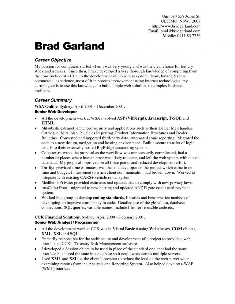 job resume objective examples and get inspired to make your resume ...