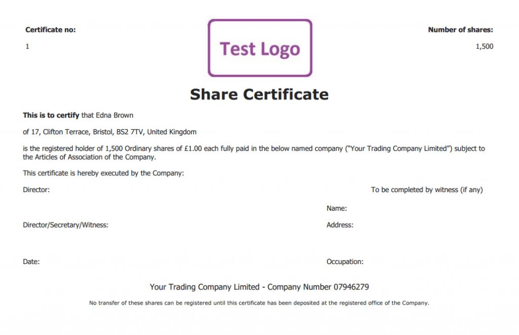 Free share certificate template: create perfect share certificates