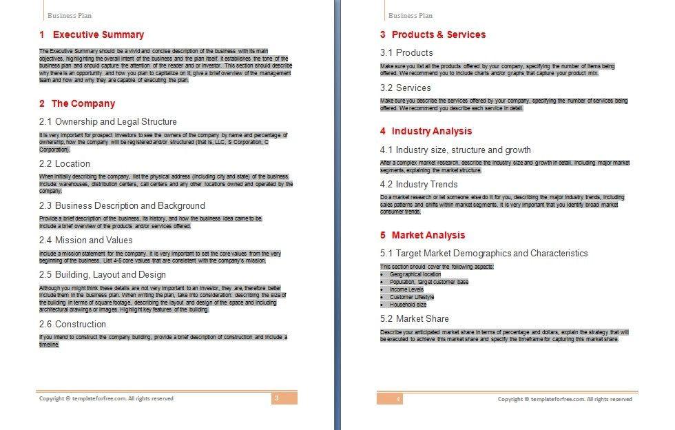 Business Plans Templates | Business Plan Template