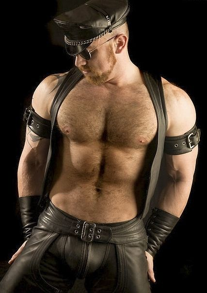 gay men wearing leather chaps