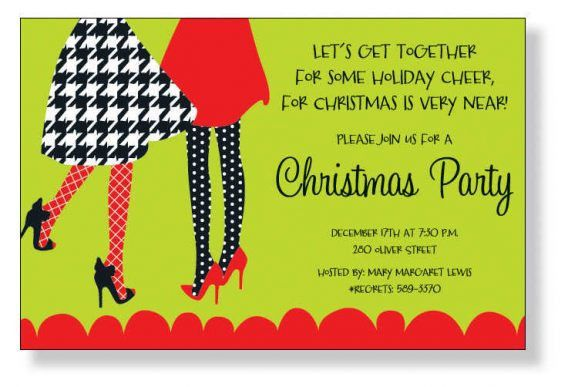 Sample Christmas Party Invitation Wording | cimvitation