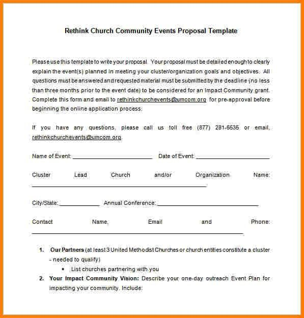 7+ how to write a church proposal | Proposal Template 2017
