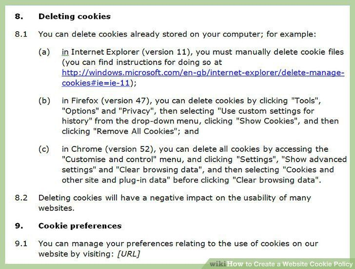 How to Create a Website Cookie Policy (with Sample Cookie Policy)