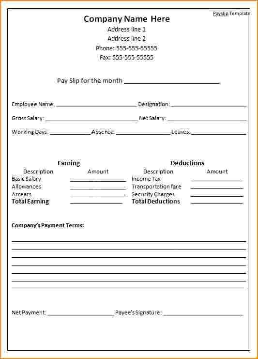 Appointment Slip Template. Pay Slip Template Sample Business ...