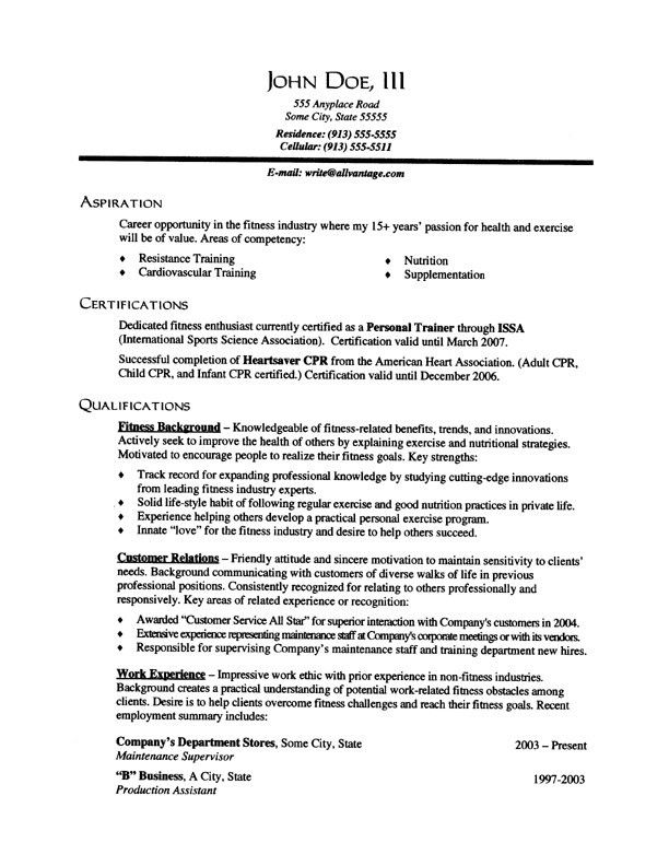 Resume Summary For Freshers Example #611