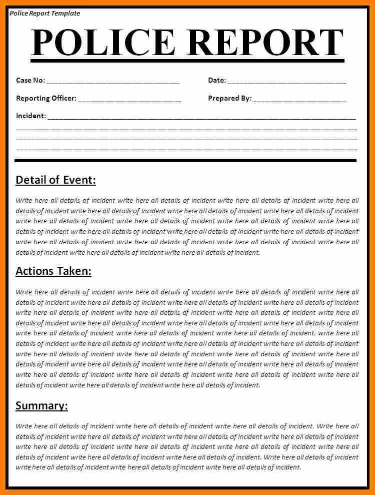 8+ how to write a police report sample | monthly budget forms