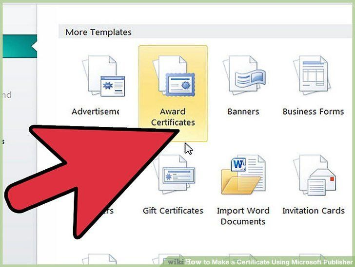 How to Make a Certificate Using Microsoft Publisher: 4 Steps