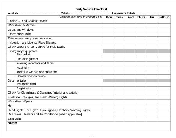 Daily Checklist Template – 18+ Free Word, Excel, PDF Documents ...