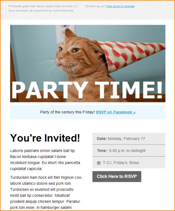 Template Event invitation email template Send Smarter | Email ...
