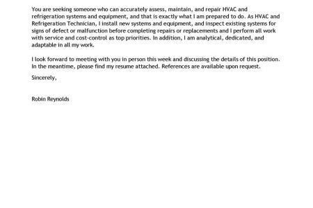 Maintenance Job Application Cover Letter Examples ...