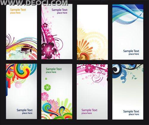 Free 8 colorful vector x-banner background illustration design ...