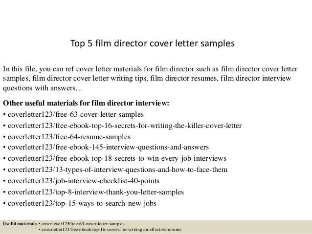 film internship cover letters