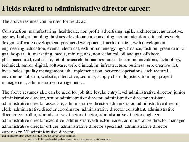 Top 5 administrative director cover letter samples