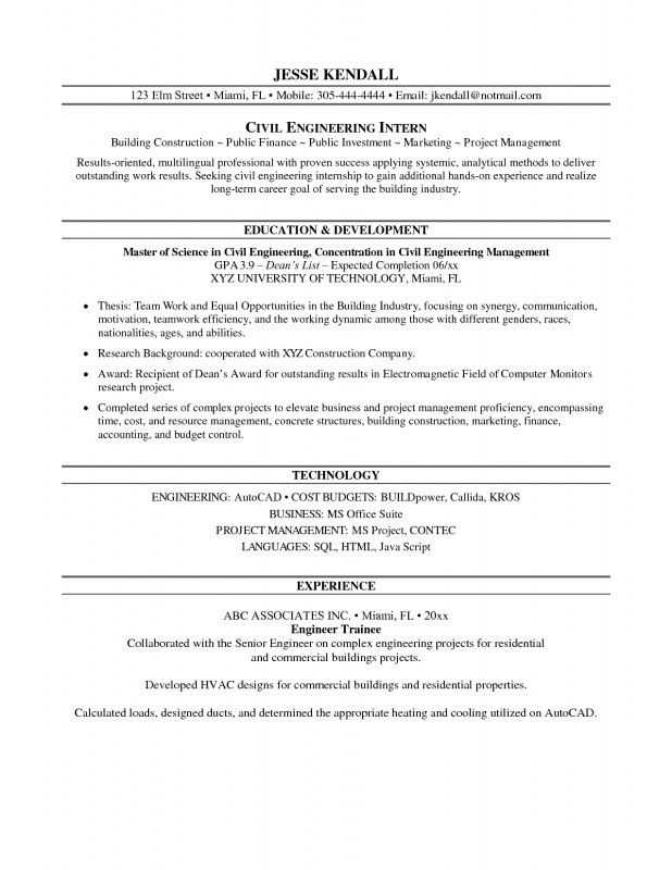 Stimulating Internship Resume Samples For College Students Brefash ...