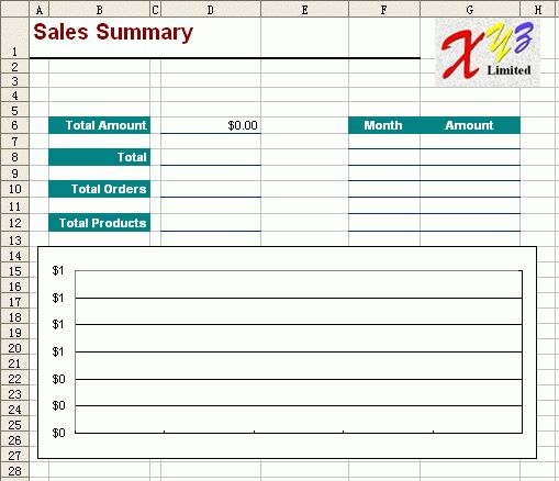 Free Excel Report Template - Monthly Sales 2
