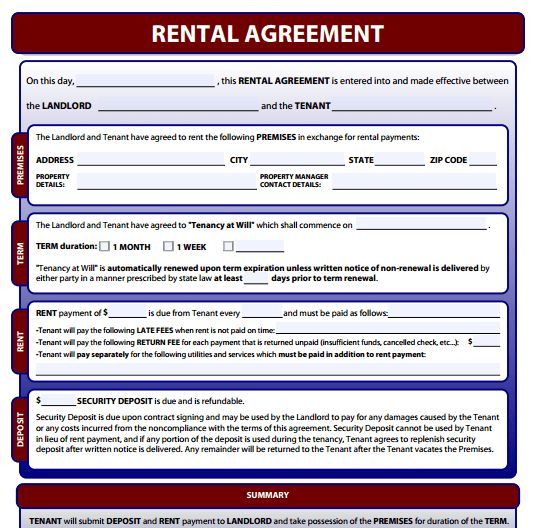Rental Agreement Forms - Free download and software reviews - CNET ...