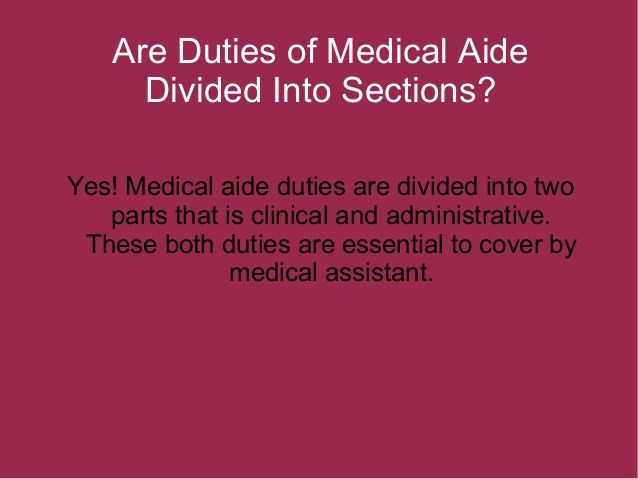 What Duties Do Medical Assistant Have To Carry Out?