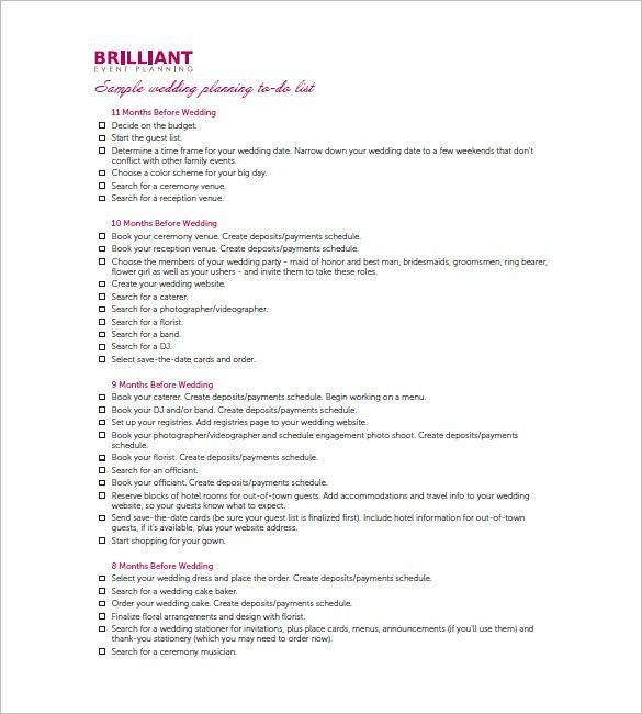 Wedding Agenda Template. Wedding Worksheet Itinerary Template ...