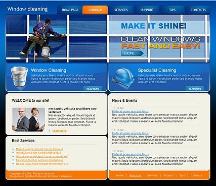 Window Cleaning HTML website template | Best Website Templates