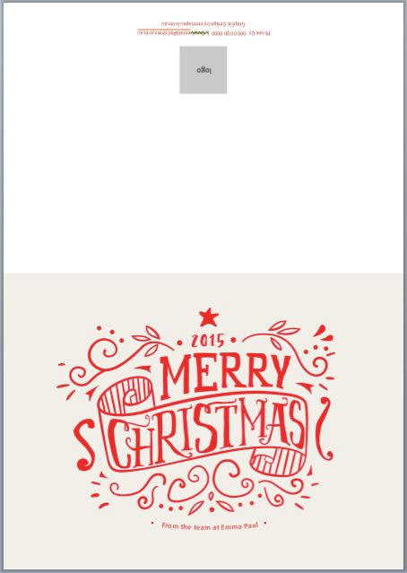 Merry and Bright! Free Christmas Card Template for 2015 ...