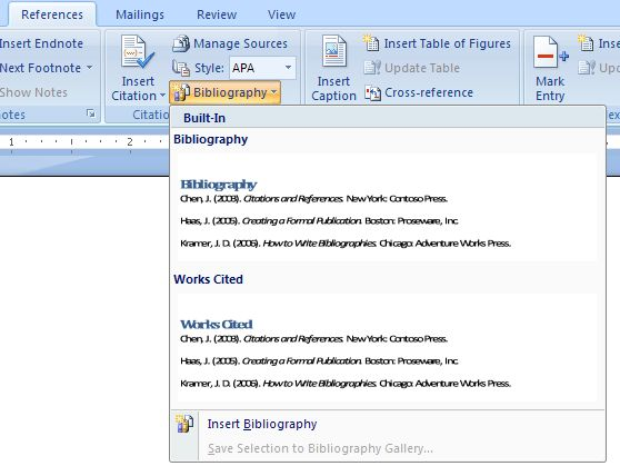 Create a Bibliography : Bibliography « Documentation « Microsoft ...