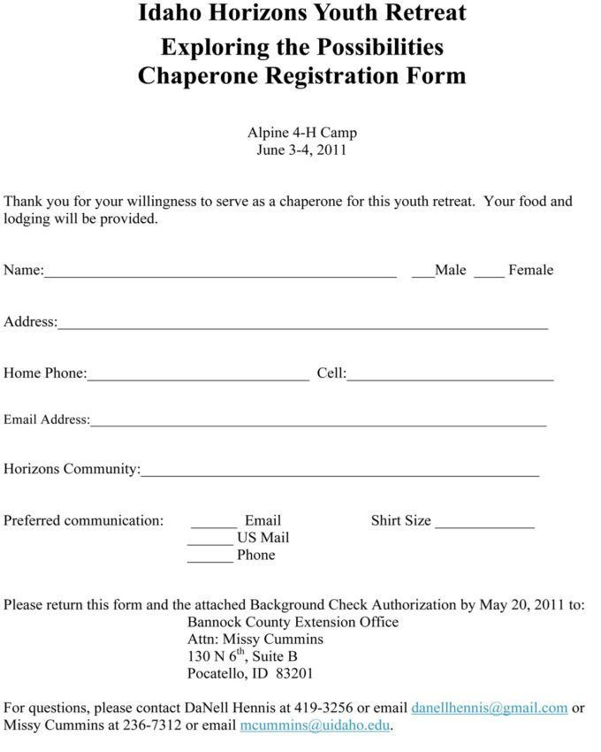 Downloadable Registration Form Template Word And Free Blank ...