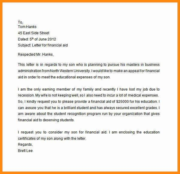 10+ how to write an appeal letter for financial aid | musicre sumed