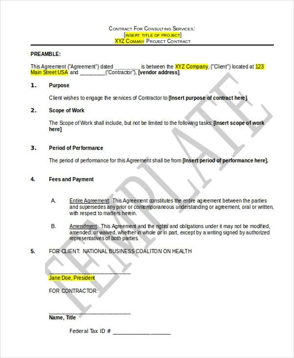 Consulting Services Agreement. Bigi Org | In Order To Provide ...